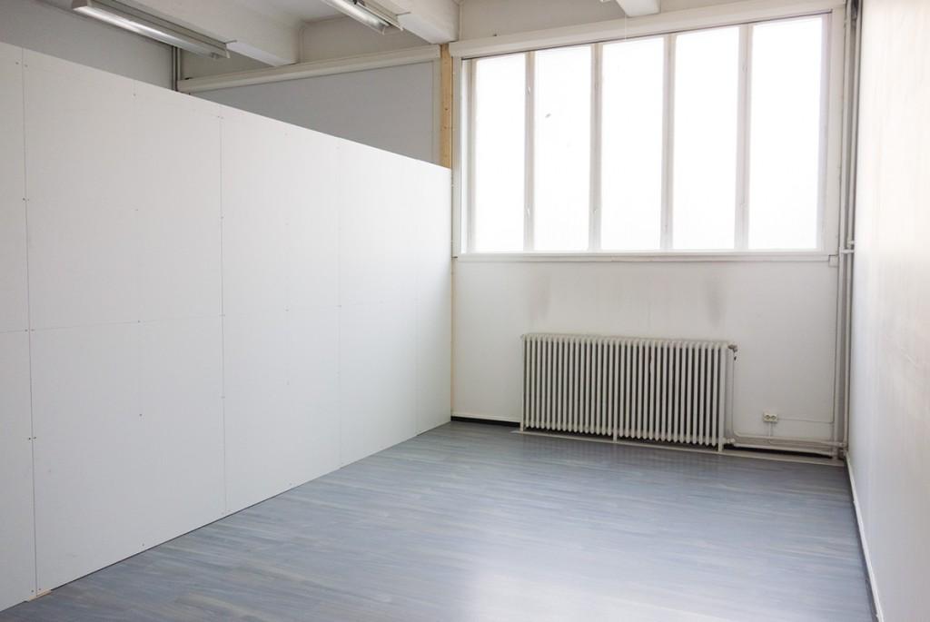 En av åtte atelierplasser ved Kunstnernes Hus