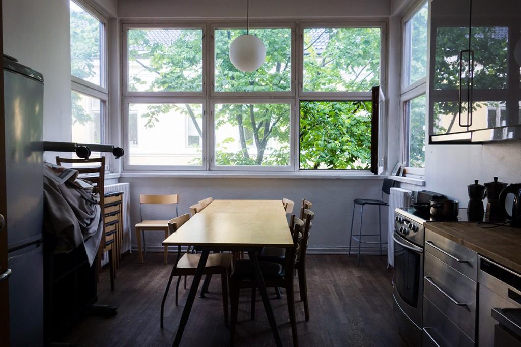 Felleskjøkkenet til atelierplassene ved Kunstnernes Hus